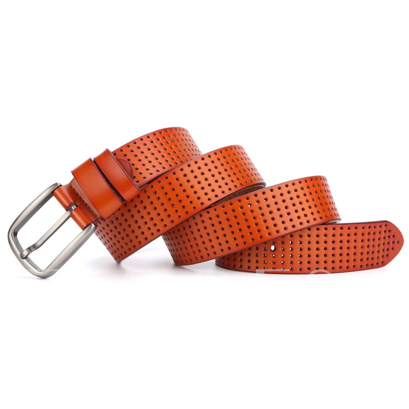 Concise Pin Buckle Artificial Leather Men's Belt