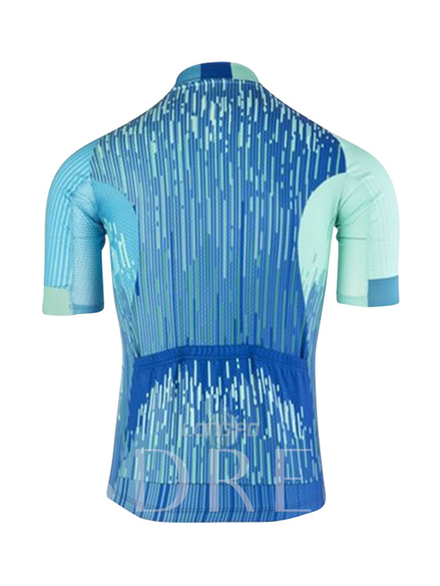 Wicking Materials Rain Print Men's Cycling Suit (Plus Size Available)