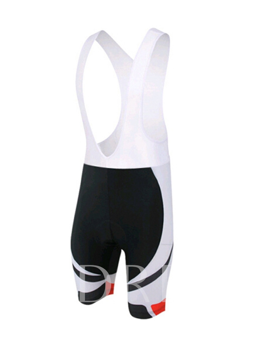 White Shorts Breathable Men's Bicycle Suit (Plus Size Available)