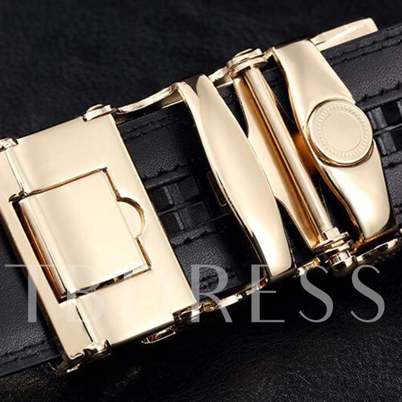 Unique Automatic Buckle Design Men's Belt