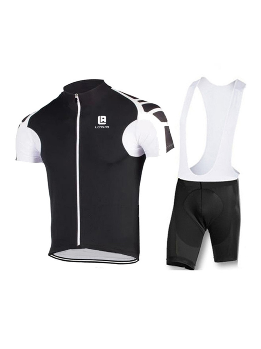Breathable Men's Bicycle Jersey and Bib Set Short Pants (Plus Size Available)