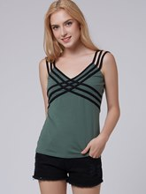 Solid Color Spaghetti Straps Slim Women's Tank Top