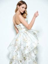A-Line Sweetheart Printed Asymmetry Homecoming Dress