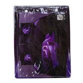 Attractive Dewy Rose 3D Printed Purple 4-Piece Cotton Bedding Sets/Duvet Covers