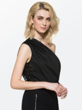 Solid Color Lace Short Sleeve Loose Women's Blouse