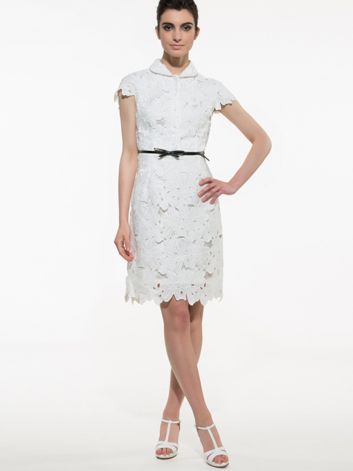 8b7fafcbcaf18 White Lace Pencil Dress - Tbdress.com