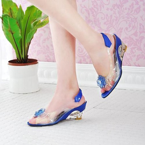 Rhinestone Slip-On Slingback Strap Women's Sandals