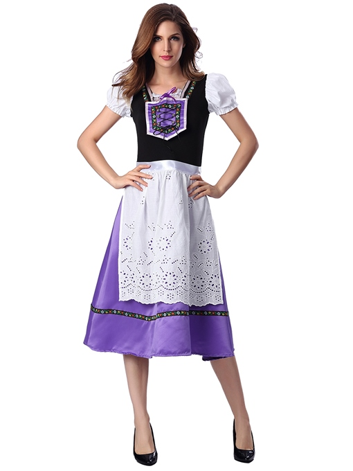 Purple French Maid Costume