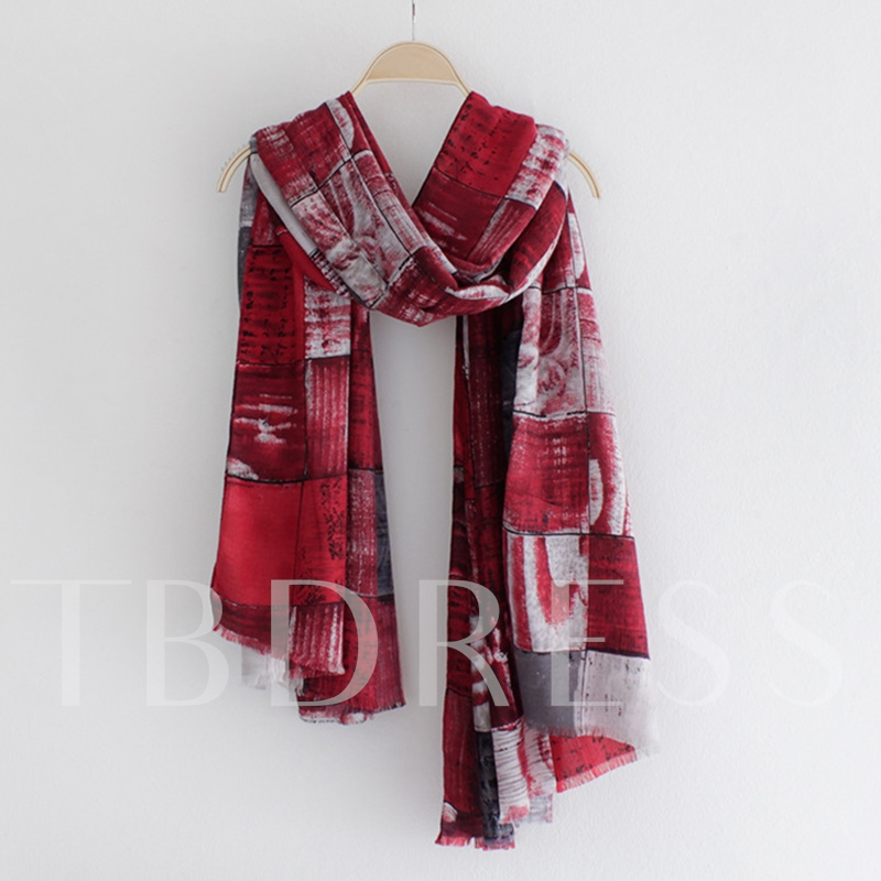 Graffiti Printed Cotton Scarf