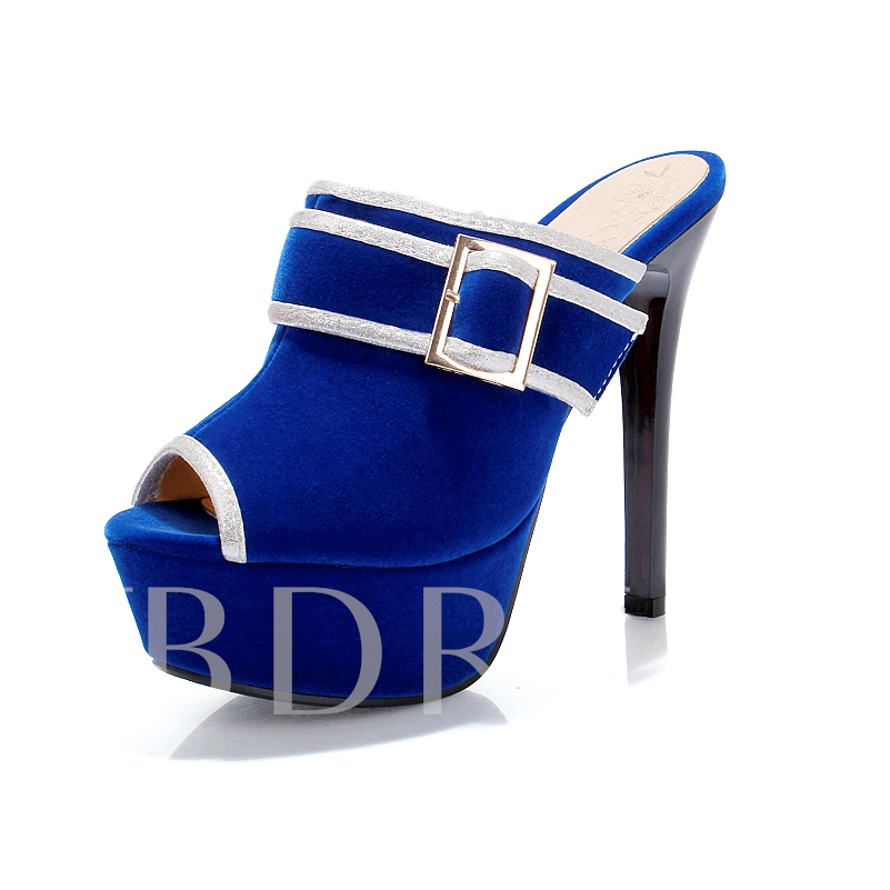 Slip-On Stiletto Heel Platform Women's Sandals