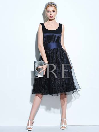 Black Pleated Backless Women's Vintage Dress (Plus Size Available)