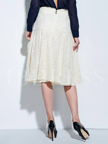 White Victorian Women's Lace Skirt