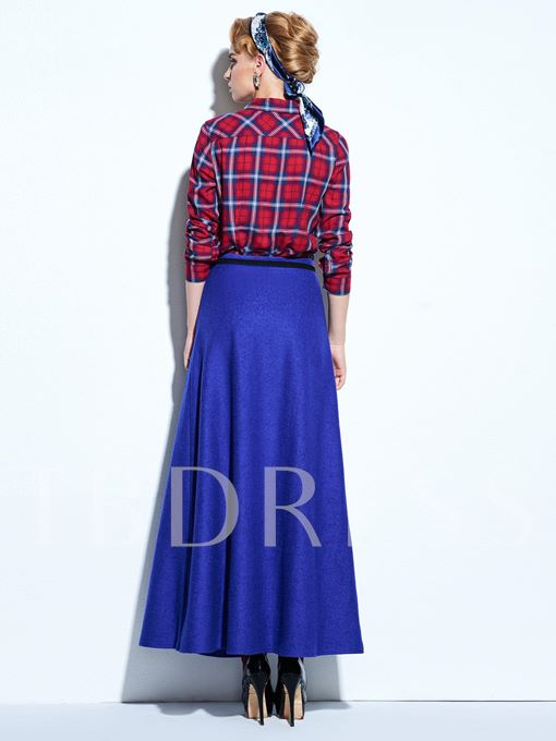 Plain Asym Women's Long Skirt