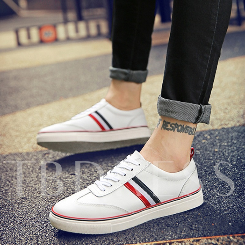 Round Toe Lace-Up Low-Cut Upper Men's Loafers