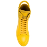 Lace-Up Mid-Cut Upper Western Thread Men's Sneakers