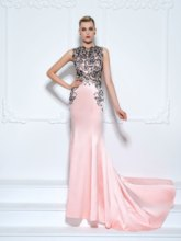 Embroidery Lace Mermaid Evening Dress