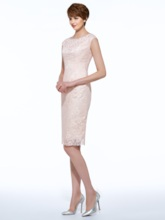 Sheath Beaded Lace Mother Of The Bride Dress With Jacket