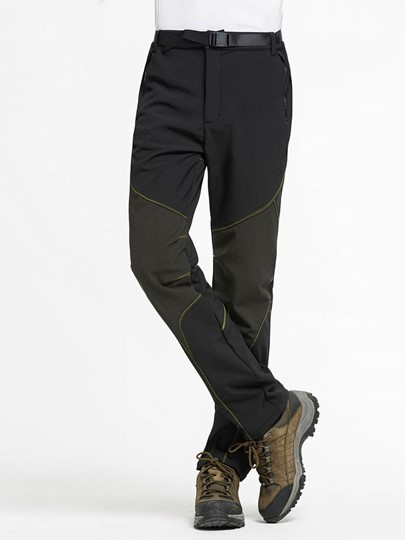 Keep Warm Thickening Waterproof Men's Mountaineering Long Pants (Plus Size Available)
