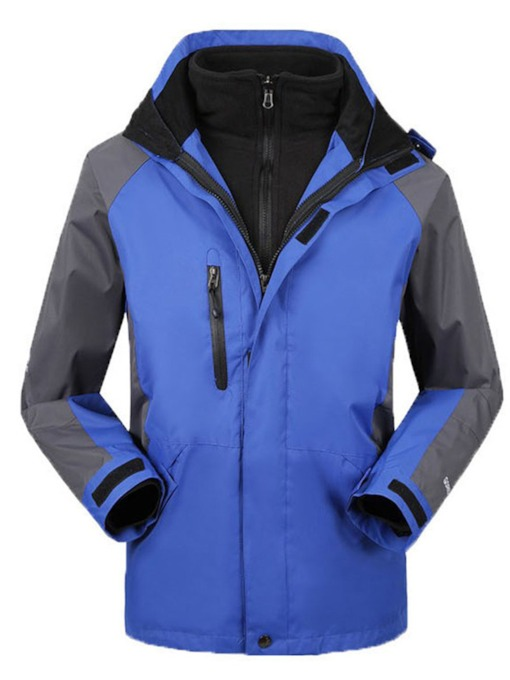 Three-In-One Windproof Warm Detachable Men's Mountaineering Jacket