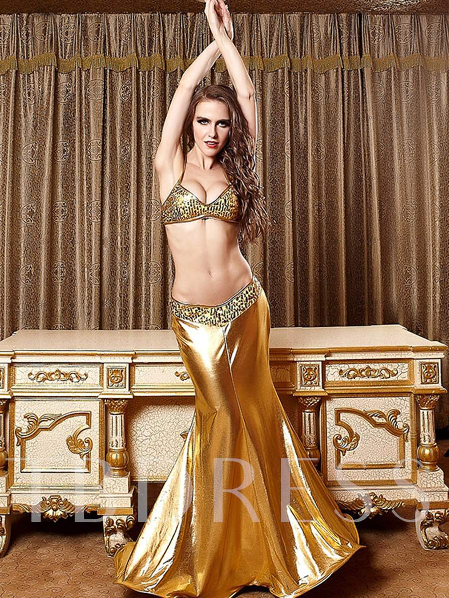 Deluxe Golden Glimmer Mermaid Costume Set