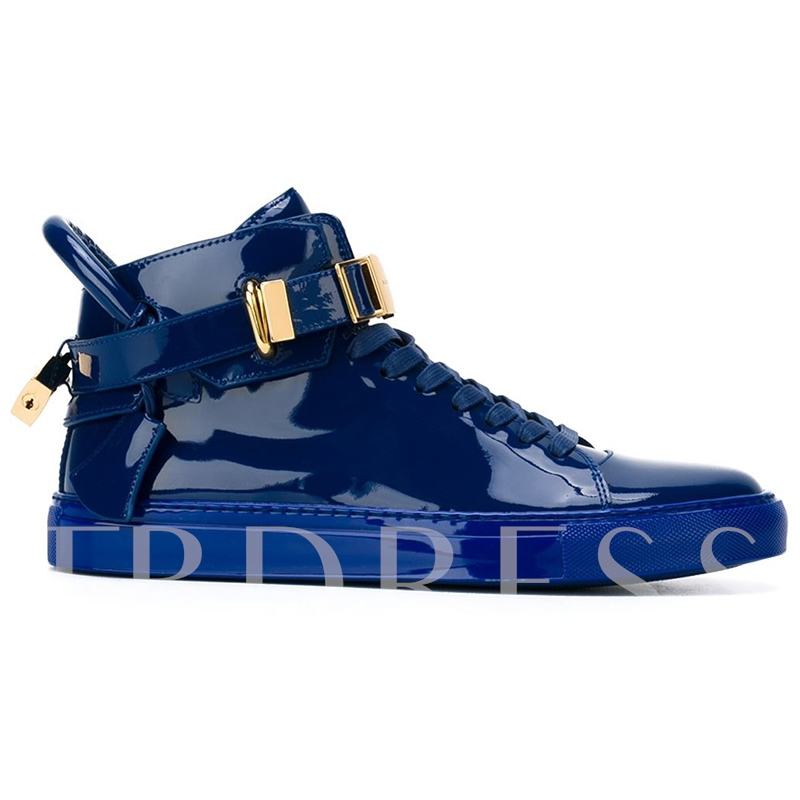 Buckle Round Toe Patchwork Men's Sneakers