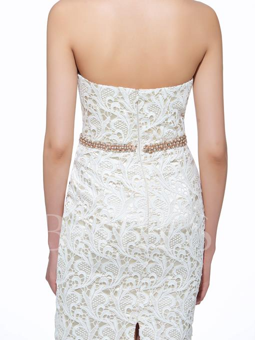 Sweetheart Lace Sheath Knee-Length Mother Of The Bride Dress