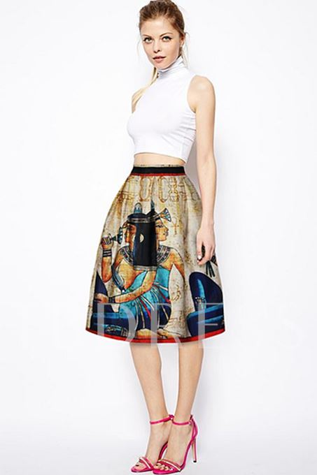 High Waisted Graphic Design High Waisted Women's Skirt