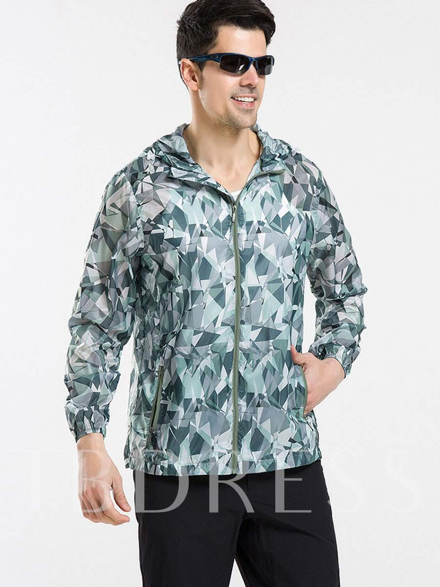 Pinkycolor Lightweight Anti-Ultraviolet Zipper Men's Outdoor Jersey (Plus Size Available)