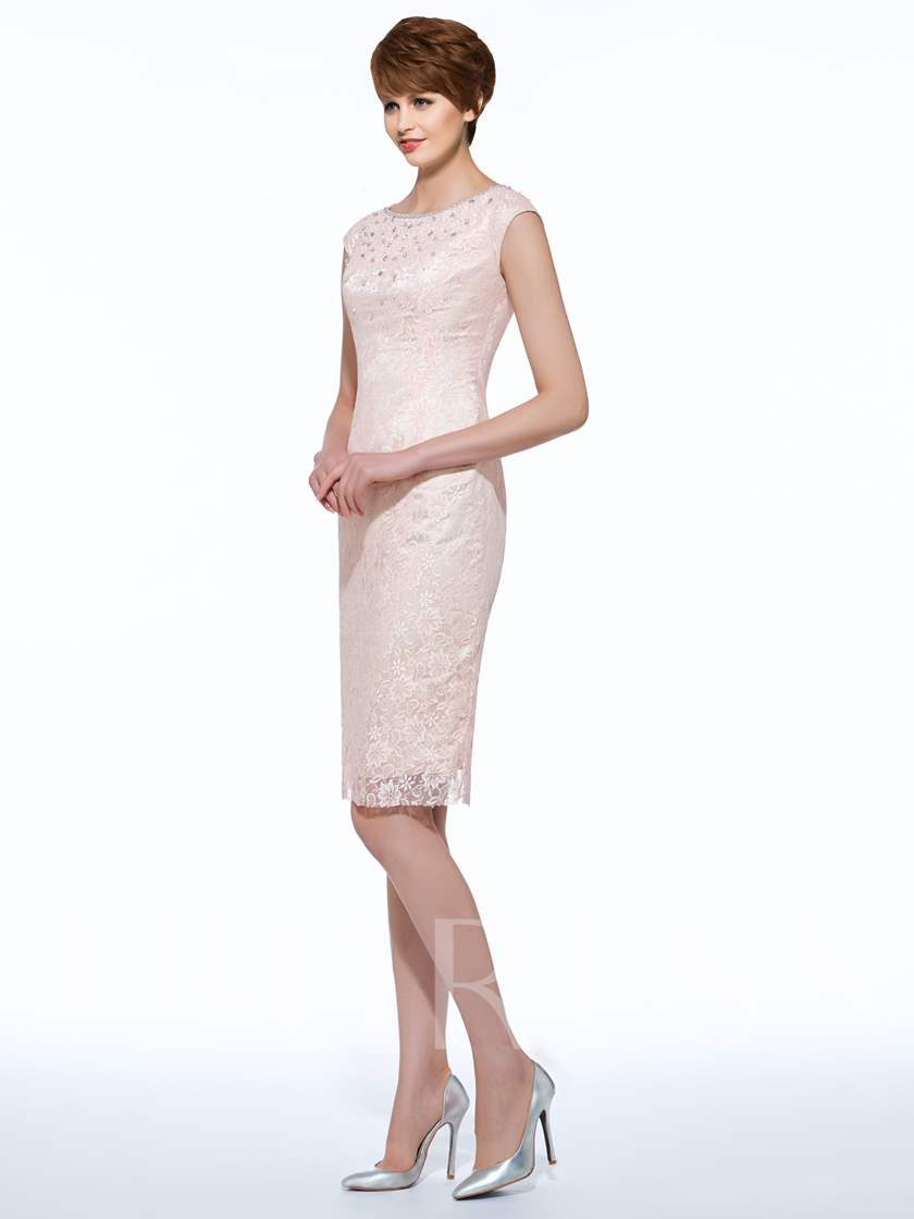 Beaded Lace Sheath Mother Of The Bride Dress With Jacket