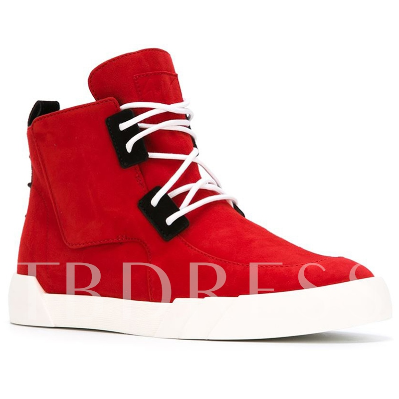 Mid-Cut Upper Lace-Up Western Platform Men's Canvas Sneakers