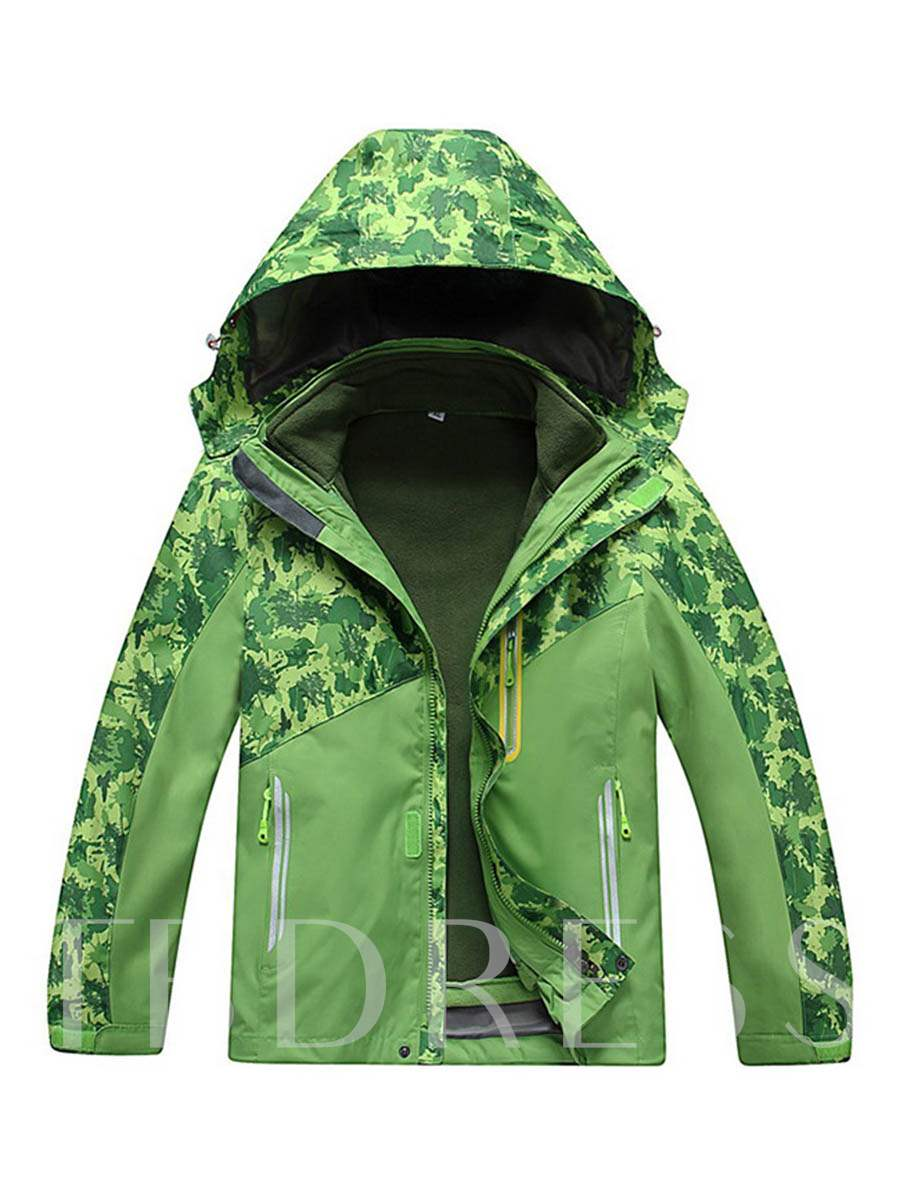Three-In-One Thickening Warm Detachable Teenagers' Jacket