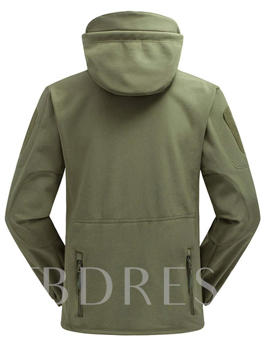 Camouflage Fleece Lining Men's Soft Shell Jacket (Plus Size Available)