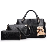 Crocodile Grain Embossed Women's Bag Sets