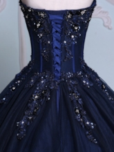 Sweetheart Appliques Beading Lace-Up Quinceanera Dress