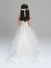 Spaghetti Straps Asymmetry A Line Flower Girl Dress