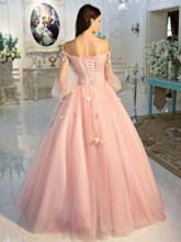 Off-the-Shoulder Ball Gown Dress Beading Pleats Quinceanera Dress