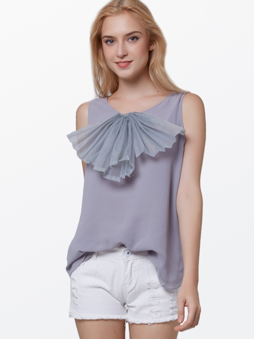 Bow Knot Chiffon Women's Blouse