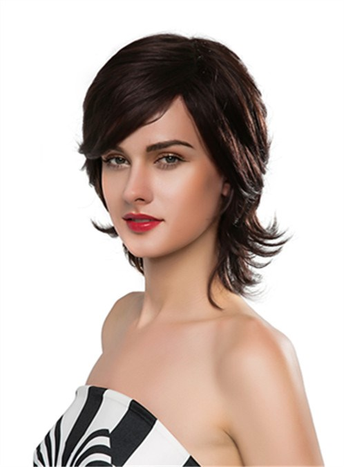 Charming Medium Wavy Capless Human Hair Wig 14 Inches