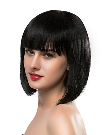 Bob Type Natural Straight Human Hair Capless Wig
