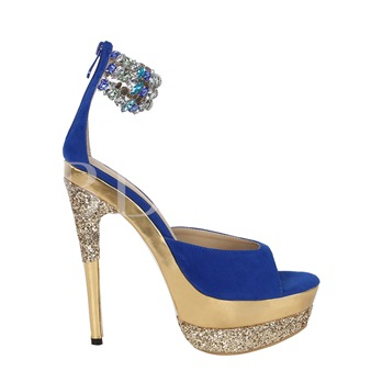 Ankle Rhinestone Peep Toe High Heel Women's Sandals (Plus Size Available)