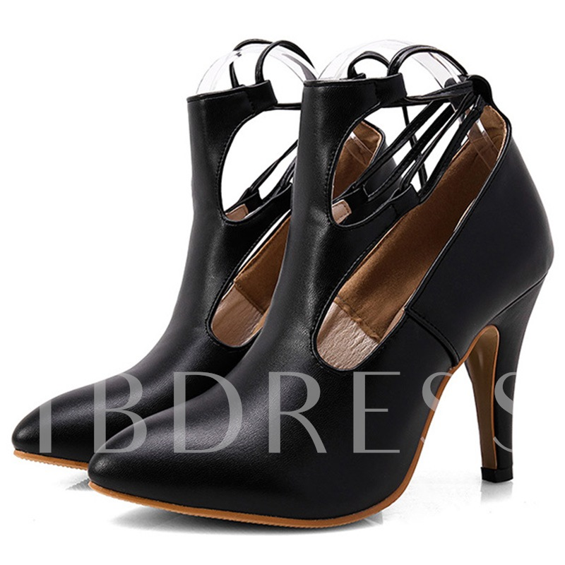 Buy Pointed Toe Stiletto Heel Hollow Cross Strap Women's Pumps, Spring,Summer,Fall, 12251251 for $33.99 in TBDress store