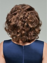 Lovely Medium Curly Capless Human Hair Wig 12 Inches