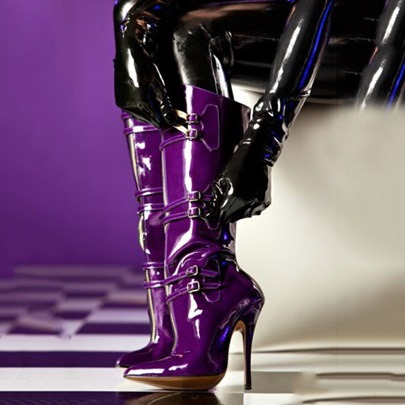 Pointed Toe Side Zipper Knee-High Buckle Women's Boots