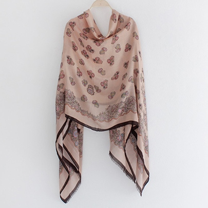 Colorful Embroidery Cashmere Scarf/Shawl