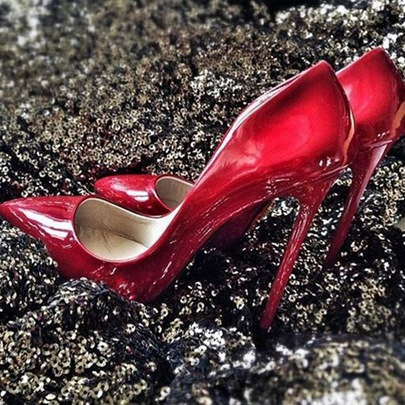 Stiletto Heel Pointed Women's Evening Metallic Party Shoes