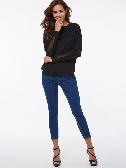 Round Neckline Long Sleeve Women's T-Shirt