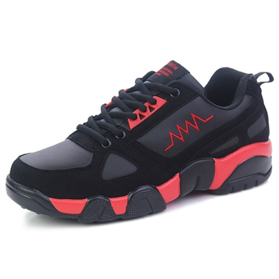 Lace-Up Cross Strap Men's Sneakers