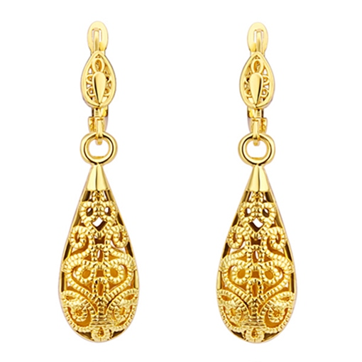 Gold Water Droplets Earrings
