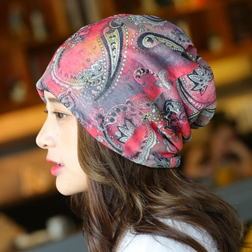 Graffiti Printed Cotton Women's Hat