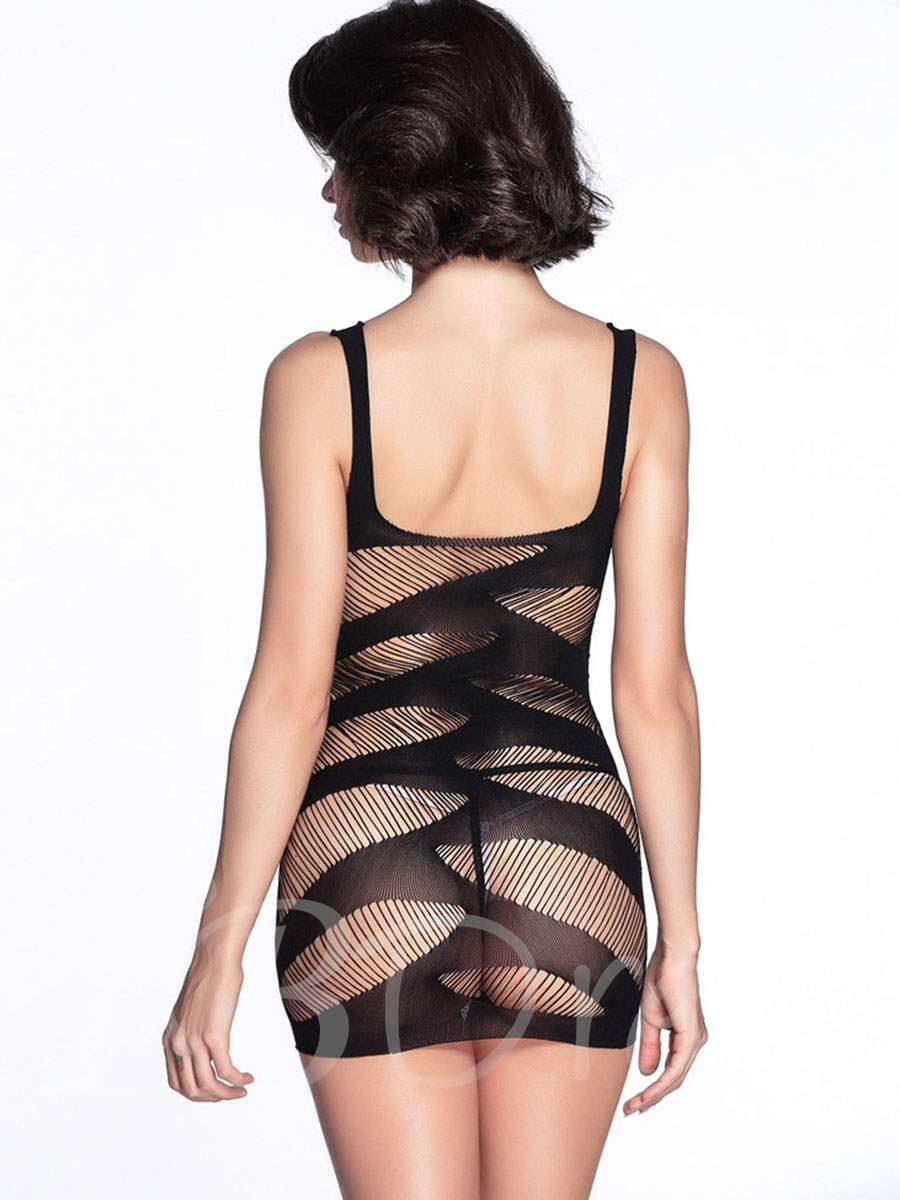 Seamless Net Strappy Chemise